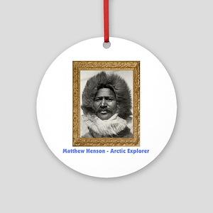 Matthew Henson - Arctic Explorer Round Ornament