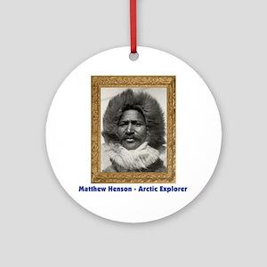 Matthew Henson - Arctic Adventurer Round Ornament