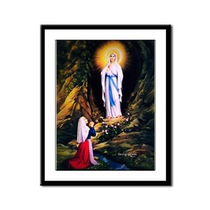 Our Lady of Lourdes 1858 Framed Panel Print
