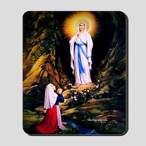 Our Lady of Lourdes 1858 Mousepad