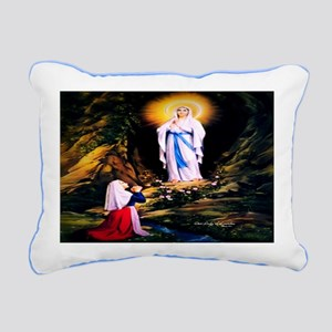 Our Lady of Lourdes 1858 Rectangular Canvas Pillow