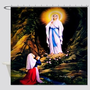 Our Lady of Lourdes 1858 Shower Curtain