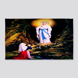 Our Lady of Lourdes 1858 3'x5' Area Rug