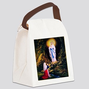 Our Lady of Lourdes 1858 Canvas Lunch Bag
