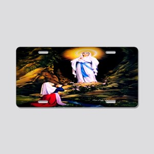 Our Lady of Lourdes 1858 Aluminum License Plate