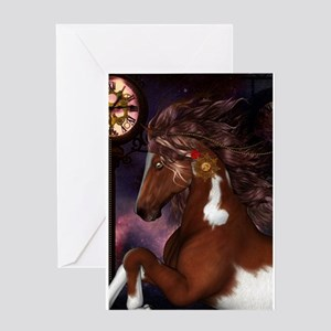 Steampunk Wonderful wild horse with clocks and gea