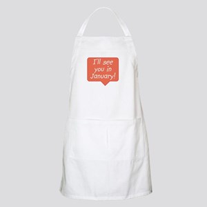 January due date BBQ Apron