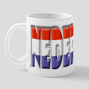 Word Art Flag Nederlands Mug