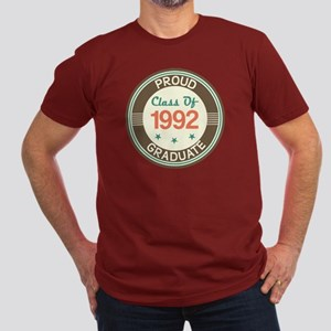 Vintage Class of 1992 Men's Fitted T-Shirt (dark)
