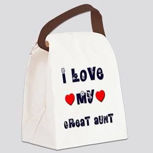 GREAT-AUNT Canvas Lunch Bag