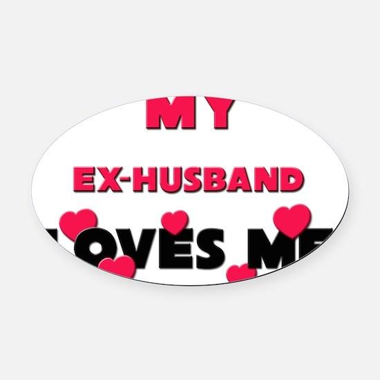 EX-HUSBAND Oval Car Magnet