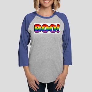 boo-rainbow Womens Baseball Tee