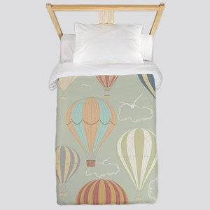 Vintage Hot Air Balloons Twin Duvet