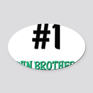 3-TWIN-BROTHERS Oval Car Magnet