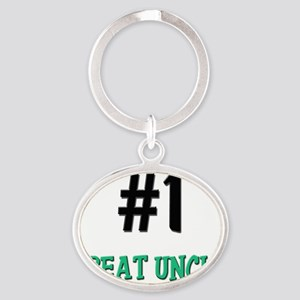 5-4-3-GREAT-UNCLE Oval Keychain