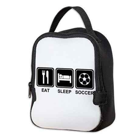 EAT SLEEP SOCCER Neoprene Lunch Bag