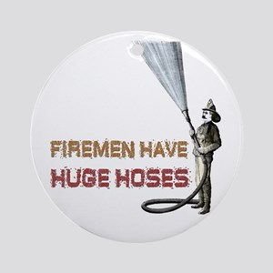 Funny Firefighter Ornament (Round)