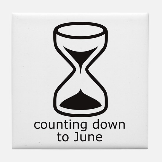 counting down June due date Tile Coaster