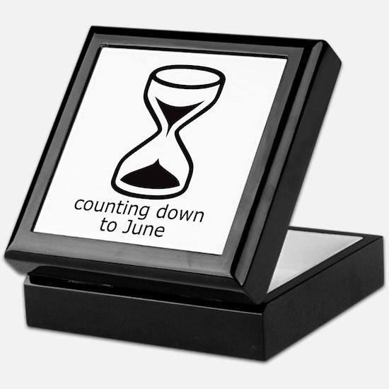 counting down June due date Keepsake Box