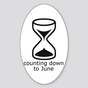counting down June due date Oval Sticker
