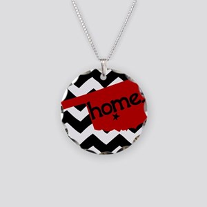 Oklahoma HOME State Crimson Necklace