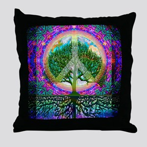 Tree of Life World Peace Throw Pillow