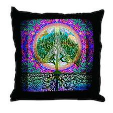 Tree of Life World Peace Throw Pillow