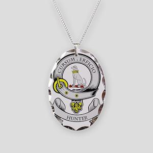 HUNTER Necklace Oval Charm
