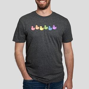 ducky-rainbow-row Mens Tri-blend T-Shirt