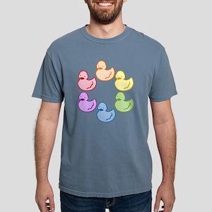 duckie-rainbow-row_tr2 Mens Comfort Colors Shi