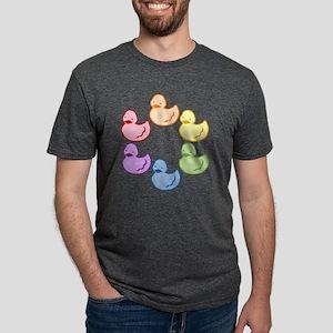 duckie-rainbow-row_tr2 Mens Tri-blend T-Shirt