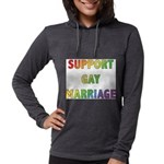 SUPPORT_GAY_MARRIAGE_1 Womens Hooded Shirt