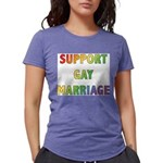 SUPPORT_GAY_MARRIAGE_1 Womens Tri-blend T-Shir