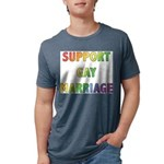 SUPPORT_GAY_MARRIAGE_1 Mens Tri-blend T-Shirt