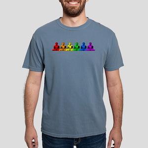 Row Of Rainbow Buddhas Mens Comfort Colors Shirt