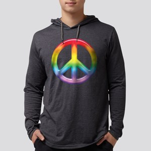 rainbow_peace Mens Hooded Shirt