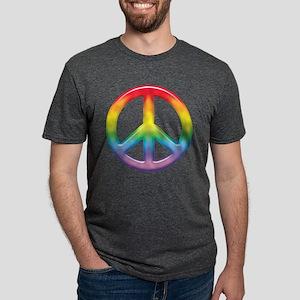 rainbow_peace Mens Tri-blend T-Shirt