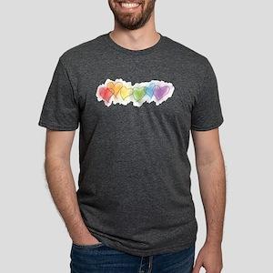 hearts-watercolor-row_tr Mens Tri-blend T-Shir