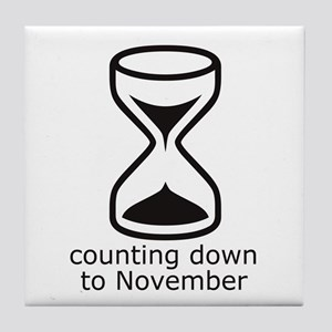 count down November due date Tile Coaster