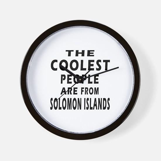 The Coolest Solomon Islands Designs Wall Clock