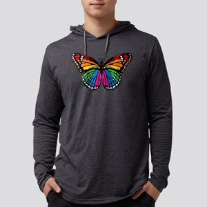 butterfly-rainbow2 Mens Hooded Shirt