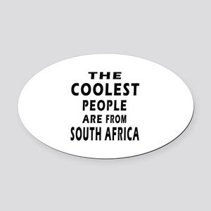 The Coolest South Africa Designs Oval Car Magnet