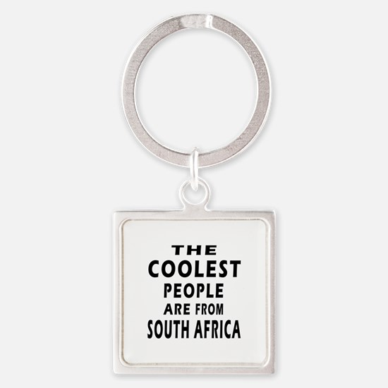 The Coolest South Africa Designs Square Keychain