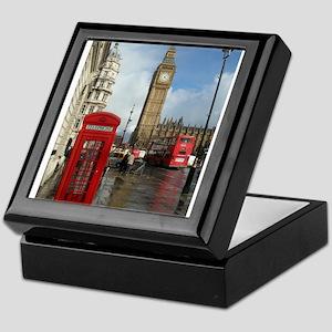 London phone box Keepsake Box