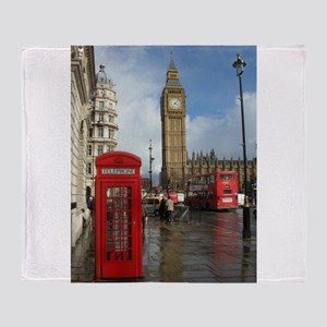 London phone box Throw Blanket