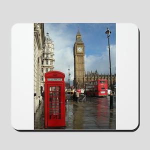 London phone box Mousepad