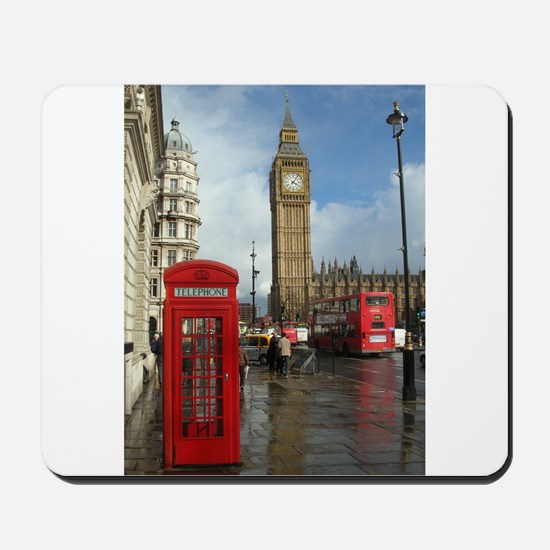 London phone box Mousepad