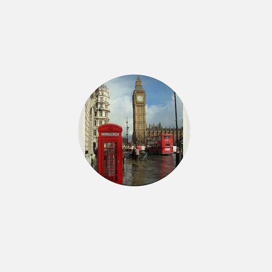 London phone box Mini Button