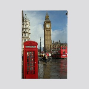 London phone box Rectangle Magnet