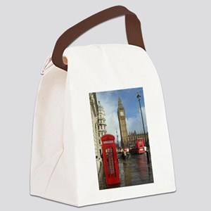 London phone box Canvas Lunch Bag
